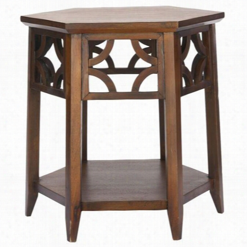 Safavieh Amh4602 Connor Hexagon End Table