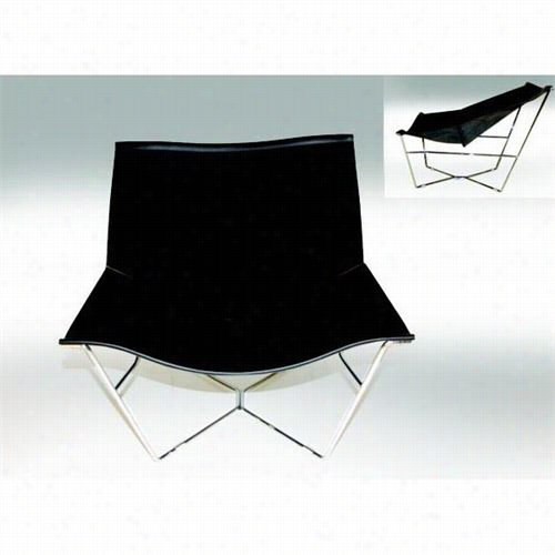 Mobital Organza-lounger Organza Lounger In  Bblack Leather