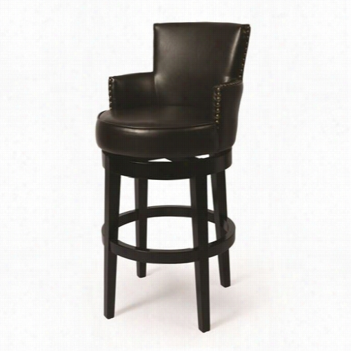 "Pastel Furniture Za-227-30-fb-867 Zedar Swivel 30"""" Bsrstool In Eher Black"