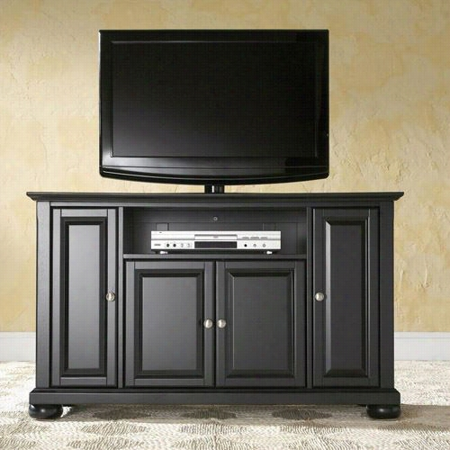 "Crosley Furnitre Kf10002abk Alexandria 48"""" Tv Stand In Black Finish"