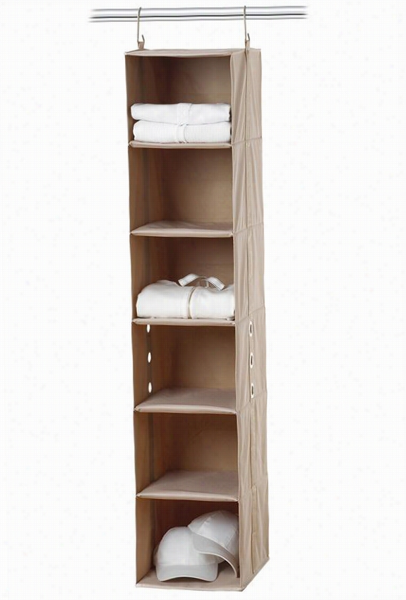 Closetmax Shoe Org Anizer - 6 Shelf, Beige