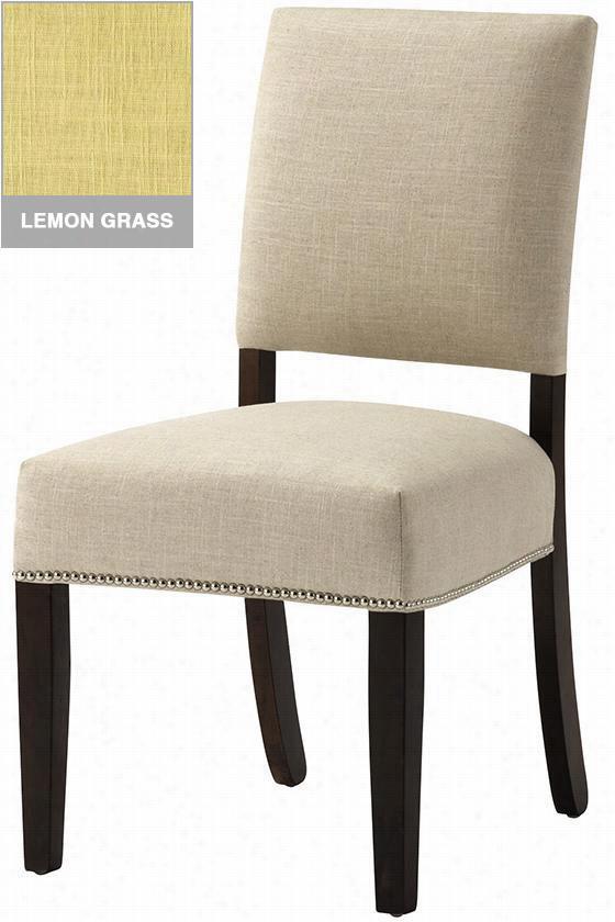 Custom Kinesy Dining Chair - Brass/expresso, Lemon  Grass