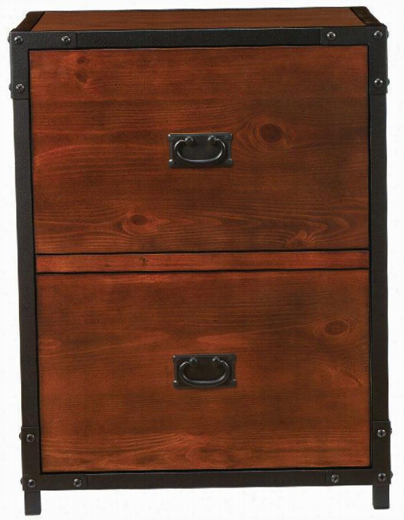 "Indusrrial Empire File Cabinet - 29&quo;""hx23""""wx185"""", Black"