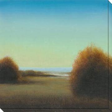 River's Journey Iii Canvas Wall Art - Iii, Blue