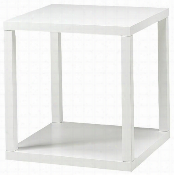 "Parsons Verge End Table - 24""&qyot;h X22&uot;""w, White"