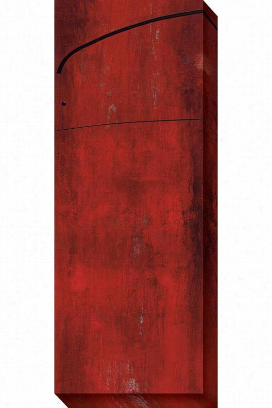 Swaye I Canvas Wall Art - I, Red