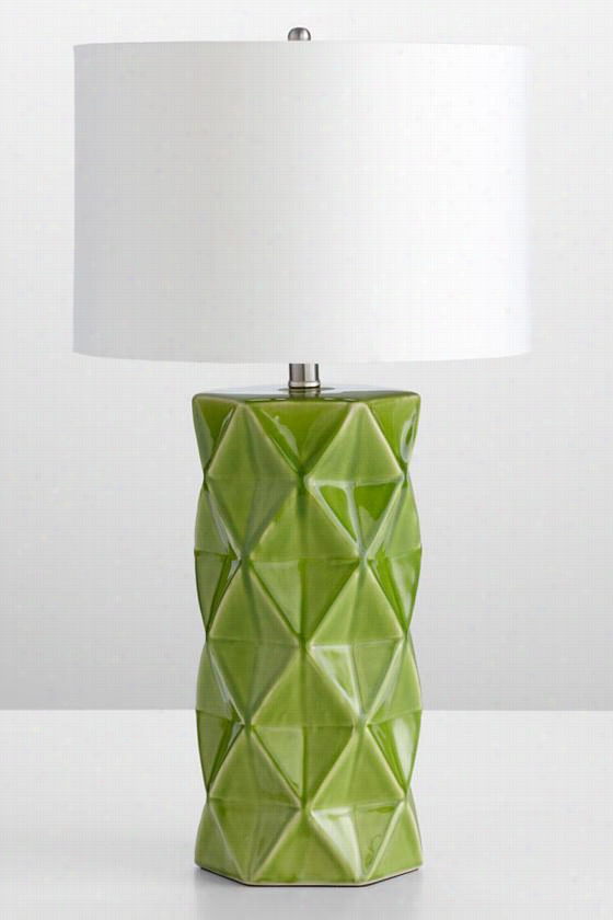 Hooshi Table Lamp - 28hx15w, Green