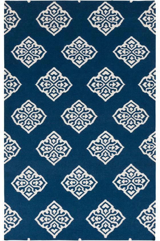 Weiss Area Rug - 9'x13', Navy Blue