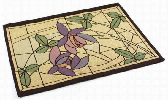 Flowers And Vines Table Linens - Mansion Mat Est Off 4, Multi