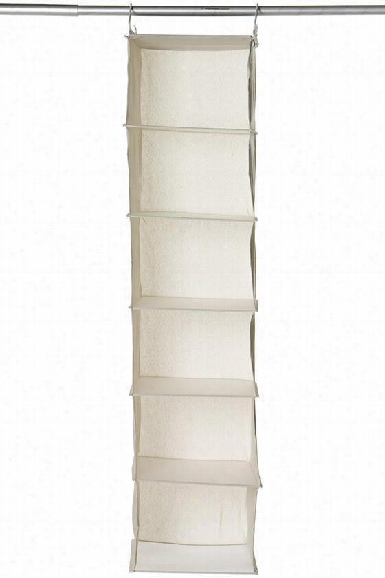 """6-shelf Swe Ater Orgaizer - 50""""""""hx12""""""""w, Ivory"""