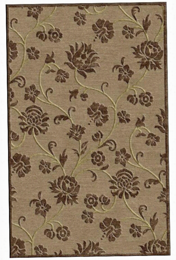 "Maureen Raea Rug - 7'10""""x10', Brown"