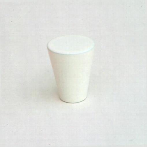 """Giagni Kb-18al-02 5/8""""""""  Cone Knob In White"""