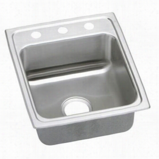 """Elkay Lradq172060 Gourmet 18 Gauge 17"""""""" X 20"""""""" X 6""""&quor; Single Bowl Kitchen Sink With Quic K-clip Mounting System"""