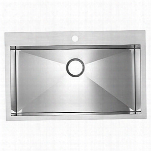 Blanco 516194 Blancoprecision 18 Gauge Super Single Stainless Tseel Single Bowl Kitchen Sink