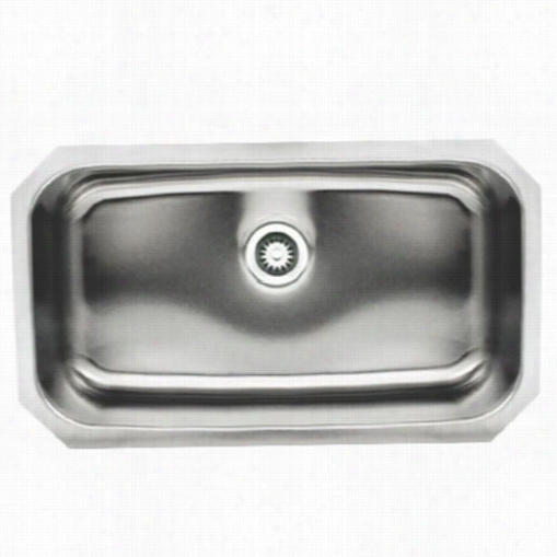 "Whitehaus W Hnu2918recnoah's 30-1/2"""" Single Bowl Undermount Sinki N Brushed Stainleds Steel"