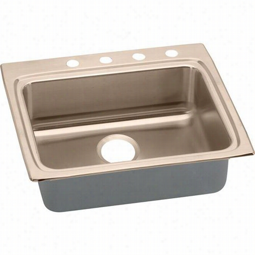 "Elkay Lrad252255_628848 Gourmet Lustertone Cuverro Antiimirobial Copper 25""""  X 22&quo;t"" X 5-1/2"""" Single Bowl T Op Mount Sink"