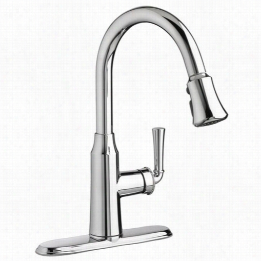 America Nstandard 4285300 Portsmouths Ingle Levr Pull Dow N Kitchen Faucet