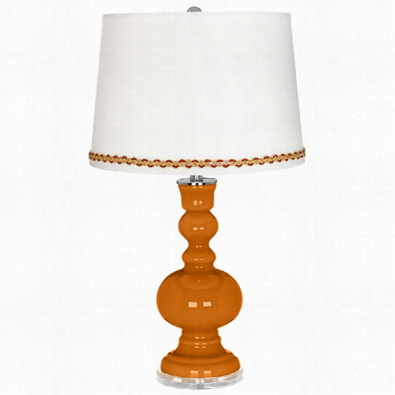 Contemporary Cinnamon Spice Apothecary Table Lamp With Serpentine Trim
