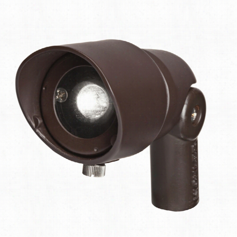 Contemporary Radiax Rich Bronze Led 3 3/4-inch-h Kichler Flood Light