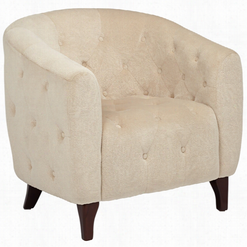 Contemp Orzry Nita Tufted Beige Upholstery Chair