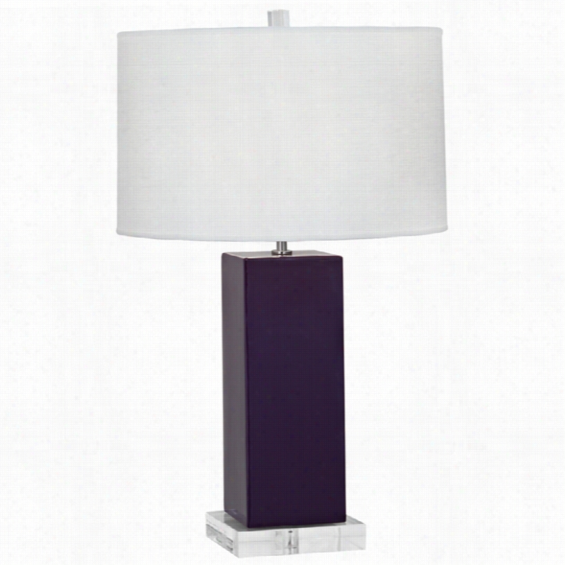 Contemporary Har Vey Amethyst Ceramic 33-inch-h Robert Abbey Table Lamp