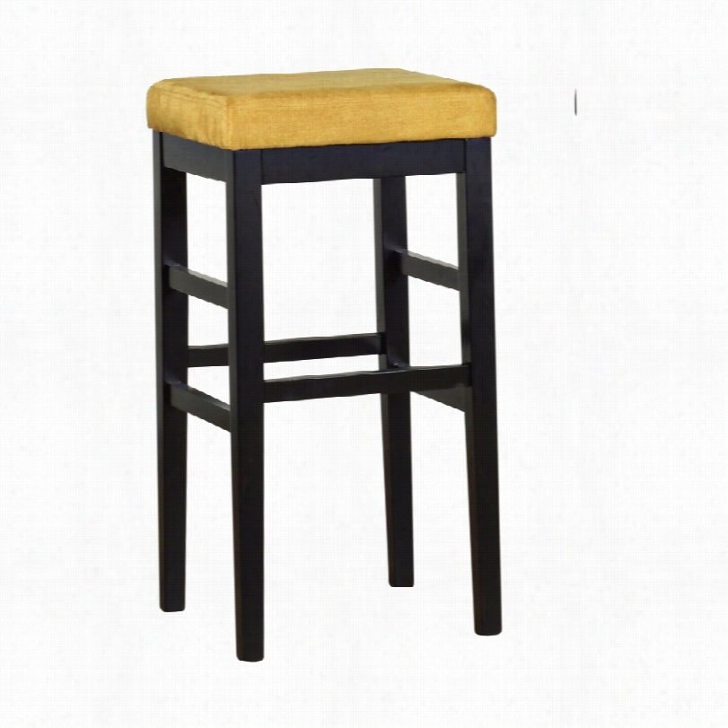 Contemporary Sonata Yellow Mirofiber 26-inch-h Stationary Counter Stool