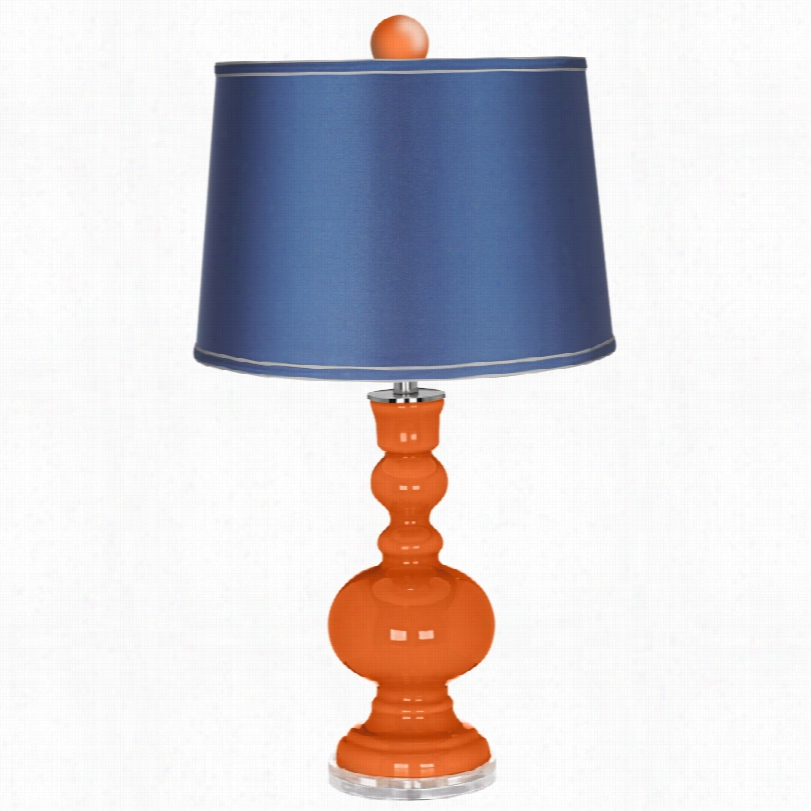 Contemporary Color Plus Finial Ands Atin Blue Sade Apothecary Lamp