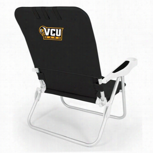 Picnic Time 790-00-179-954-0 Monaco Virginia Commonwealth Rams Digial Print  Beeach Chair In Black
