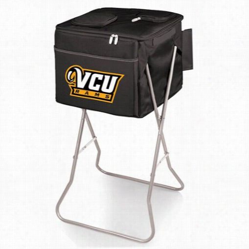 Picnic Time 780-00-179-954-0 Partg Virginia Commonwealth University Rams Digital Print Cube In Blakc