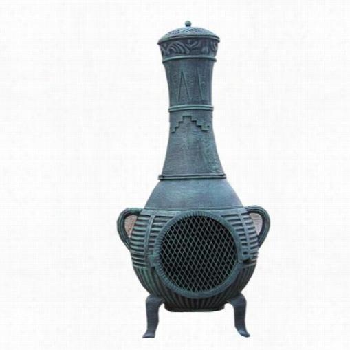 Blue Rooster Ch015gk Pnie Cast Aluminum  Gas Chiminea
