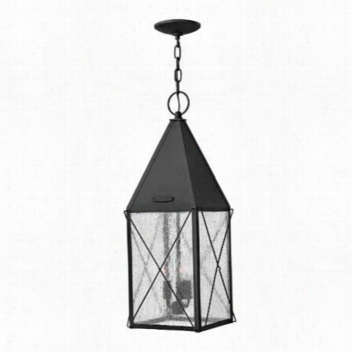 Hinkley Lighting 1842bk York 3 Light Outdoor Hahging Lantern In Black