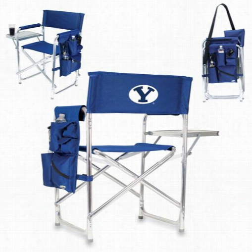 Pcnic Time 809-00-138-714-0 Byu Cougars Digital Impression Sports Chair In Navy
