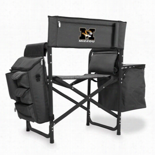 Picnic Time 807-00-679-394-0 Uni Versity Of Missouri Tigers/mizzou Digital Print Liquefaction  Chair In Dark Gre Y/black