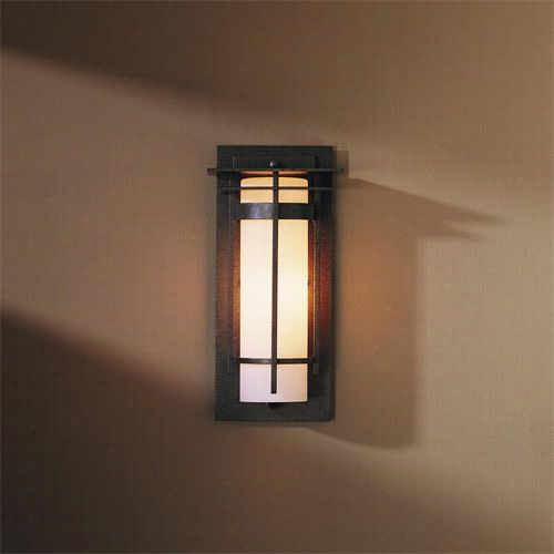 """Hubbardton Forge 305992d Banded 12-1/2""""""""h 1 Light Wall Sconce Otdoor"""