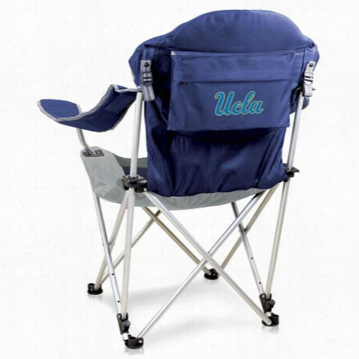 P Icnic Time 803-00-138-084-0 Ucla Digital Print Recl Ining  Camp Chair In Navy
