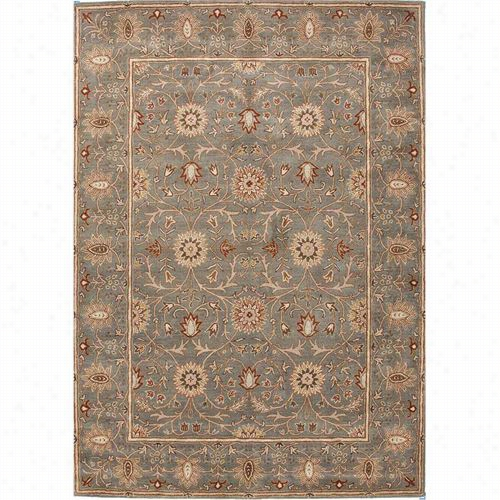Jaipur Rug1 Poeme Rennes Hand-tufted Oriental Pattern Wool Green/red Sae Green Aera Rug