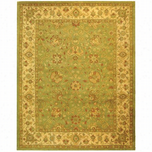 Safavieh At21d Antiquity Wool Hand Tufted Sage Rug