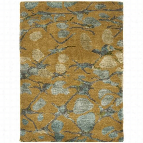 Safavieh Ms8641e Martha Stewart Silk And Wool Hand Knotted Husk Brown  Rug