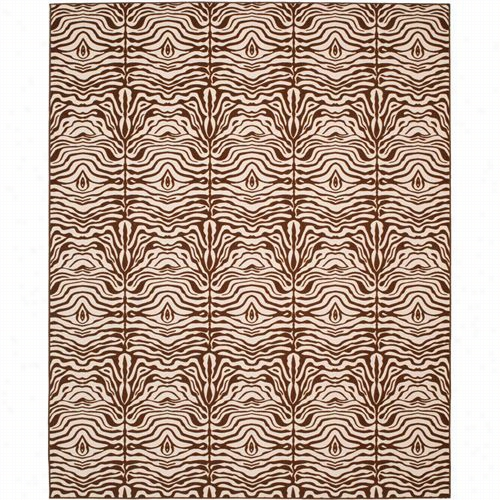 Safavieh Mpt527-1125 Metropolis Polyacrulicmachine Made Creme/brown Rug