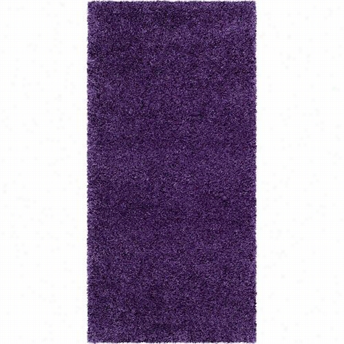 Safavieh Sg180-7373 Milan Shag Polypropylene/juteback Power Loomed Purple Rug