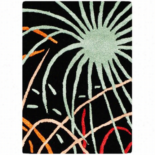 Safavieh Soh757a Soho Wool Hand Tufted Black/multi Rug