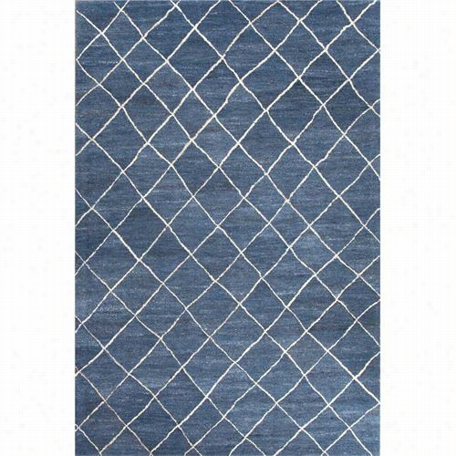 Jaipru Rug1 Riad Had- Tufted Permanent Wool Blue/viory Area Rug