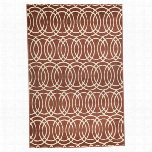 Lavish Home 62-2043a Geometric Brick Area Rug