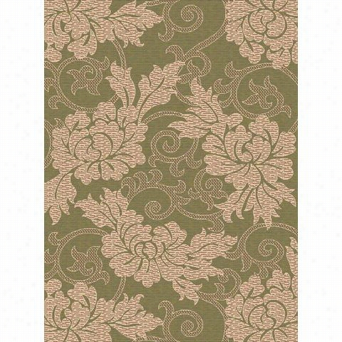 Safavieh Cy6957- 24-3 Co Urtyard Polypropylene Machine  Made Green/creme Area Rug