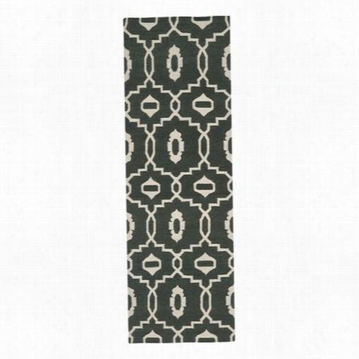 Sfaavieh Dhu205c Dhurries Wool Flatweve Chocklate/ivory Region Rug
