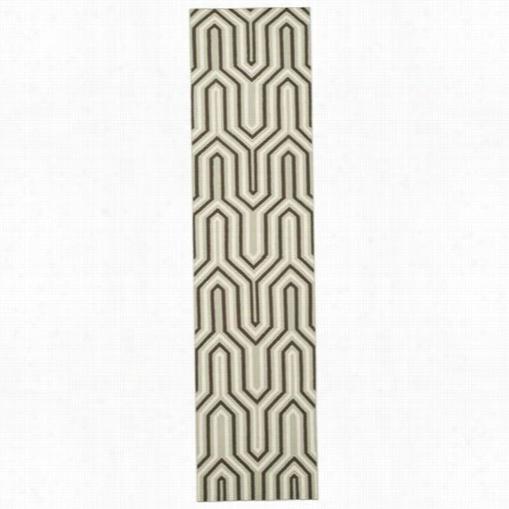 Safaviehd Hu622a Dhurries Wool Flatweave Grey/multi Area Rug