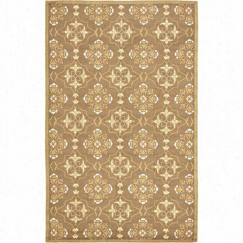 Safavieh Hk376c Chelsea Wool Hand Ooked Brown/green Rug