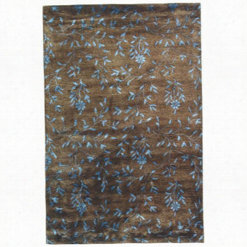 Safavieh Soh418a Sogo Wool Hand Tufted Brown/light Blue Rug