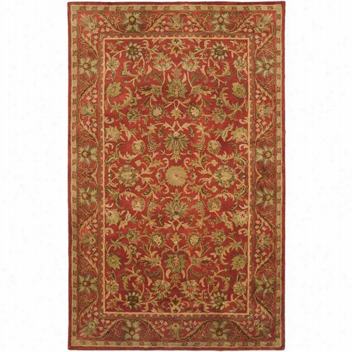 Safavieh At52e Antiquity Wool Hand Tufted Red/red Ara Rug