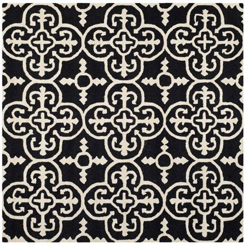 Safavieh Cam133e-6sq Cambridgee Wool Hand T Ufted Black/ivory Rug